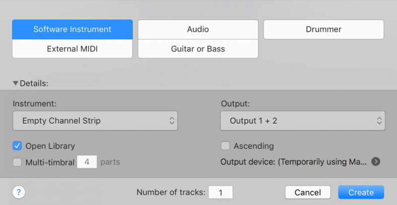 creating a software instrument in logic pro x