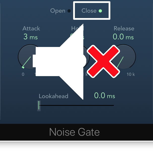 closed noise gate