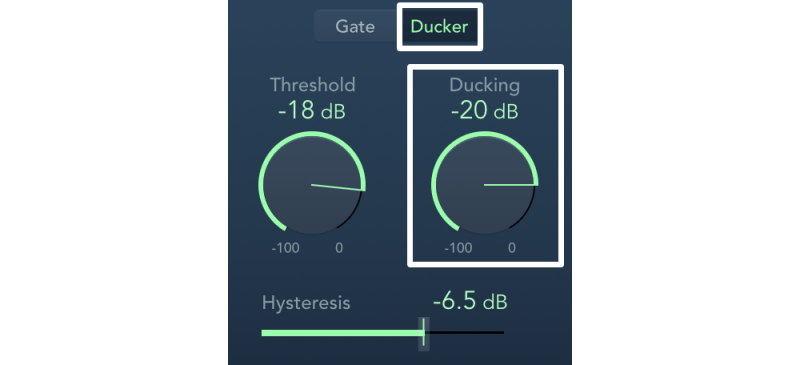 noise gate ducker