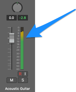 channel meter and logic pro x
