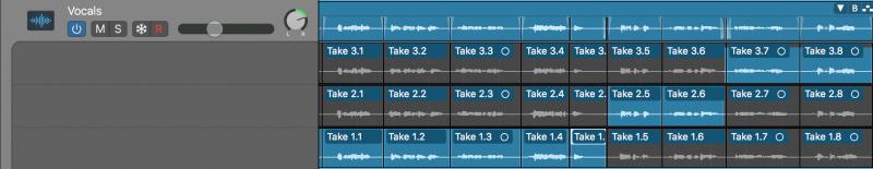logic pro x playlist view