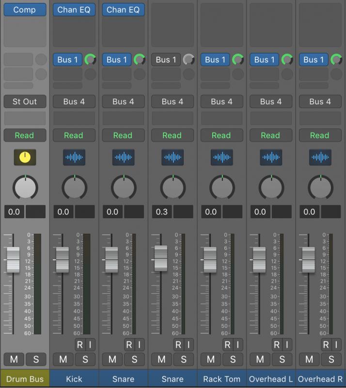 drum bus signal flow