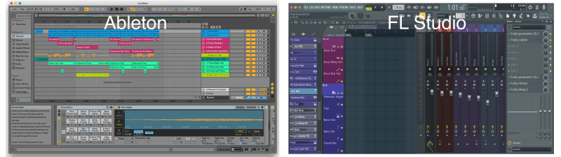 Ableton vs. FL Studio Interface and Layout