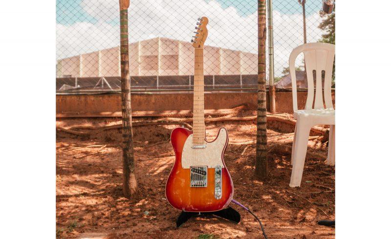 brown telecaster electric guitar