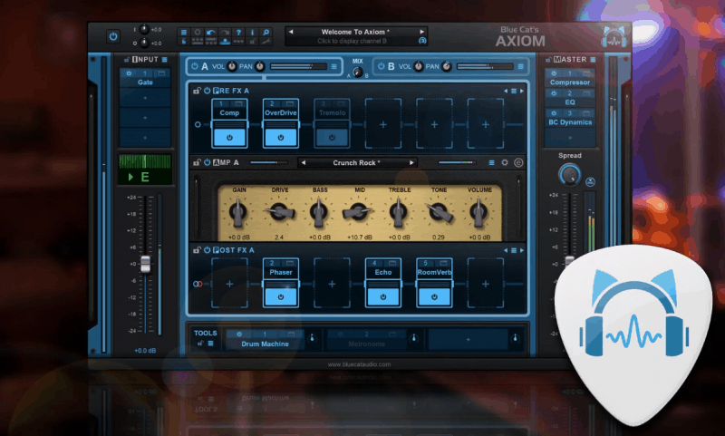 blue cat's axiom guitar effects plugin