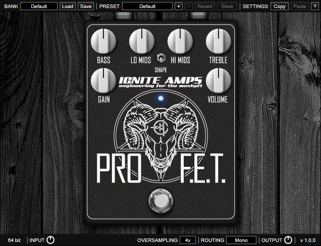ignite amps pro fet distortion pedal