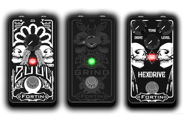 fortin zuul grind and hexdrive metal music pedals