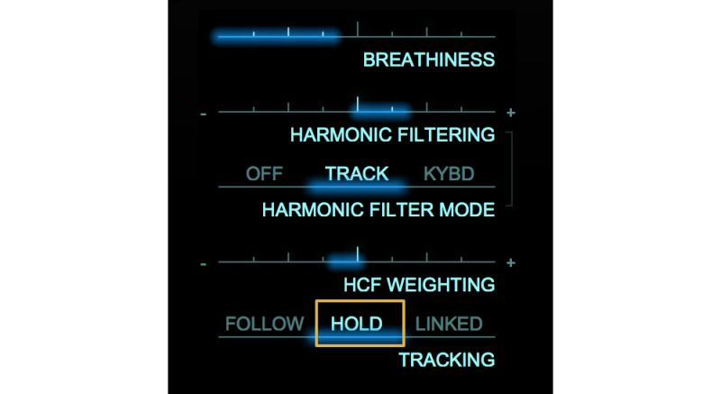adaptiverb hold setting