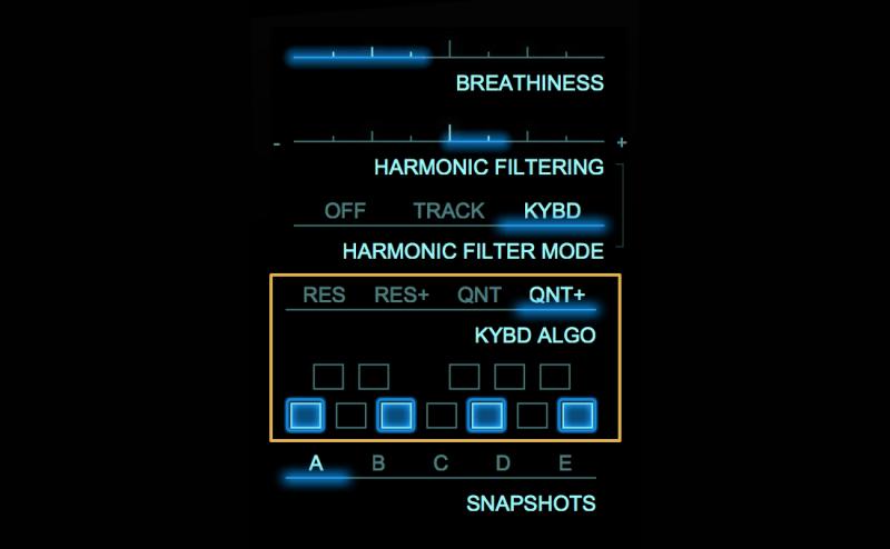 adaptiverb harmonic quantization