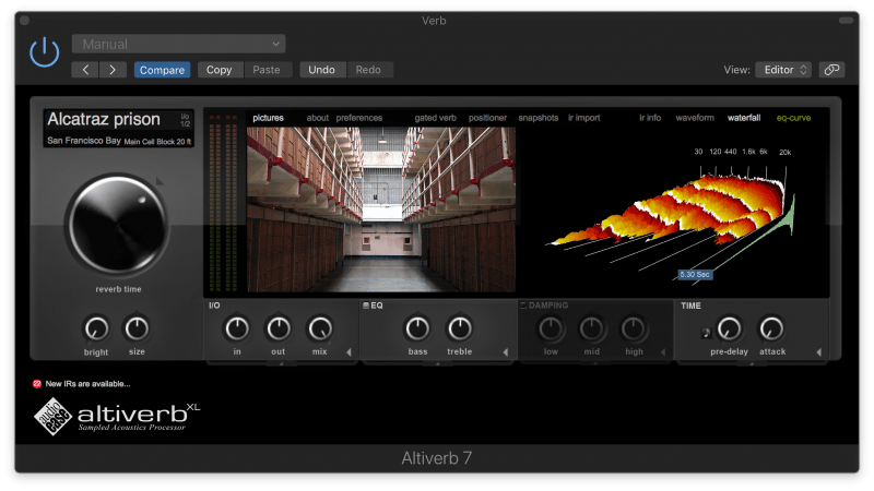 alcatraz prison reverb setting in altiverb