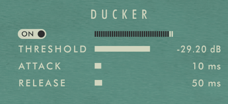 kleverb ducker setting