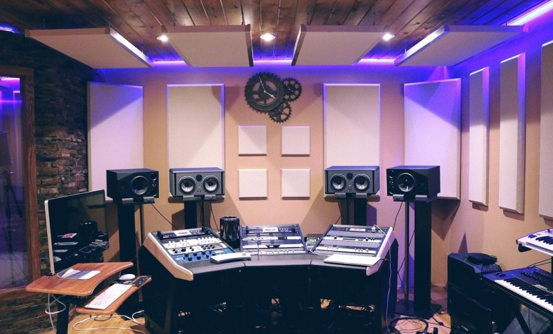 studio with acoustic treatment