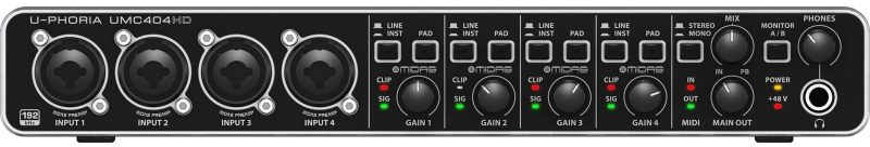 behring u-phoria audio interface