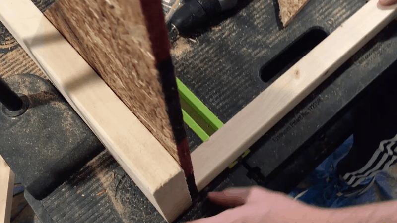 gluing all the materials together to create the bass trap's frame
