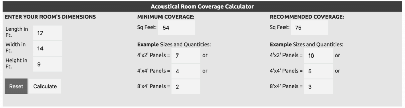 acoustical room coverage calculator from acoustimac.com