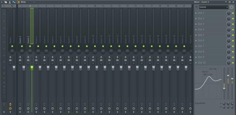 fl studios mix view