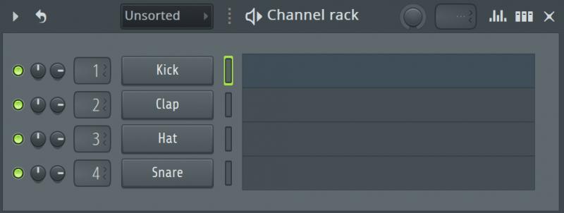fl studio's channel rack