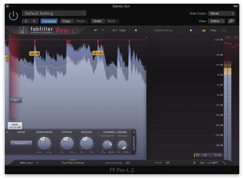 FabFilter ProL2 Mastering Limiter