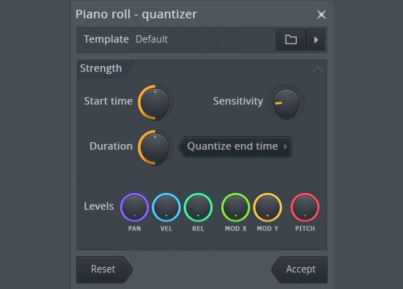 fl studio's piano roll quantizer