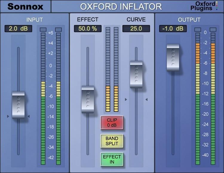 sonnox oxford inflator saturation plugin