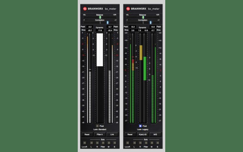 Brainworx bx_meter LUFS meter and K-system metering