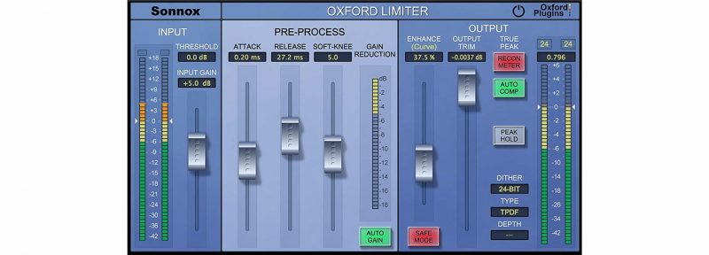 sonnox oxford limiter mastering limiter
