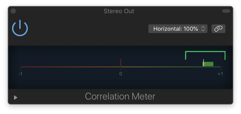 a positive reading from a correlation meter means the song is in phase
