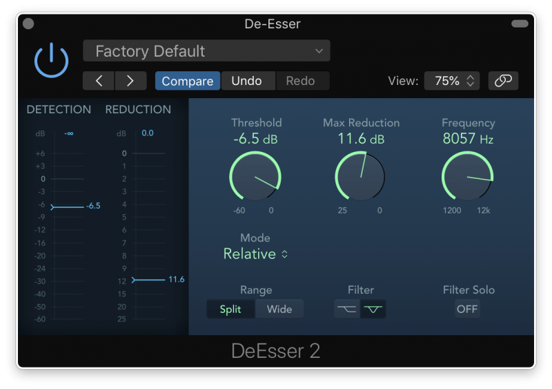Using a De-esser to team harsh high frequencies in a mix