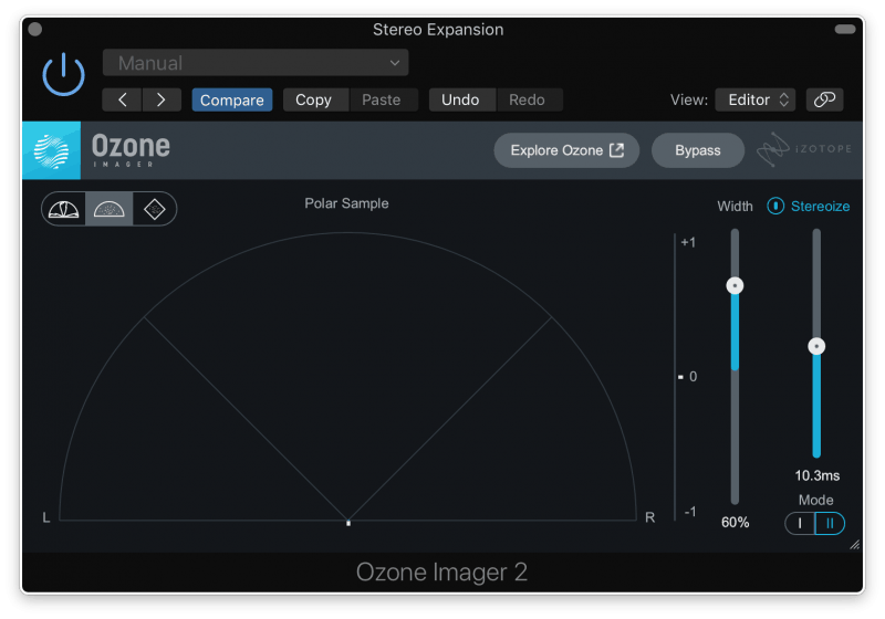 using Ozone Imager 2 by Izotope to add width to a master