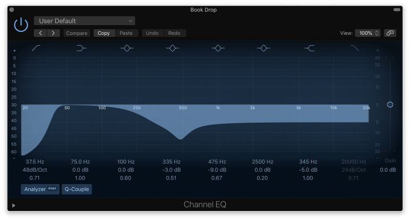 cleaning sounds with eq filters