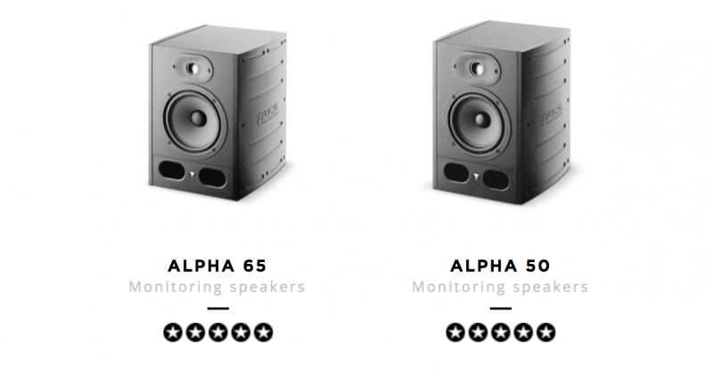 focal alpha studio monitors