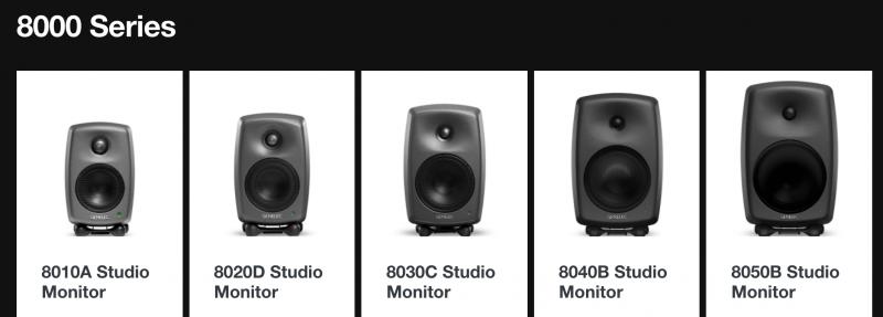 genelec 8000 studio monitors