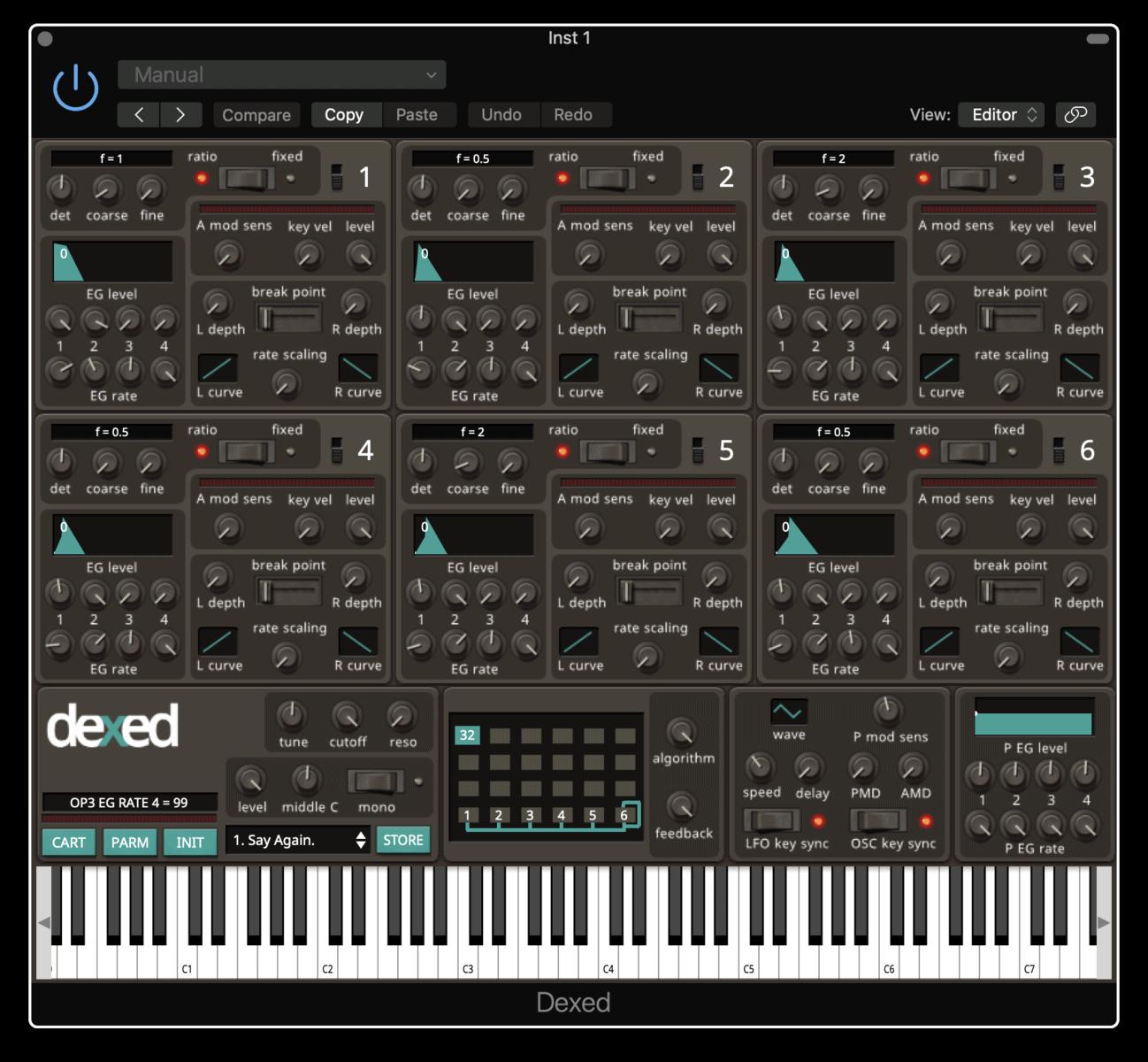 Dexed FM Synth
