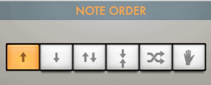 arpeggiator note order