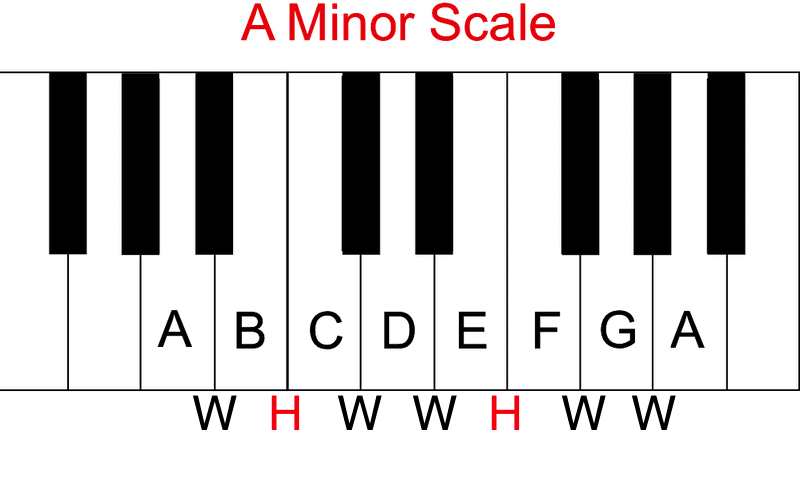 A Minor Scale Stepsa