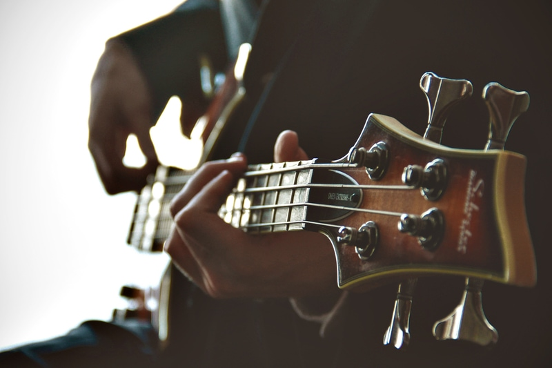 bassist playing bass