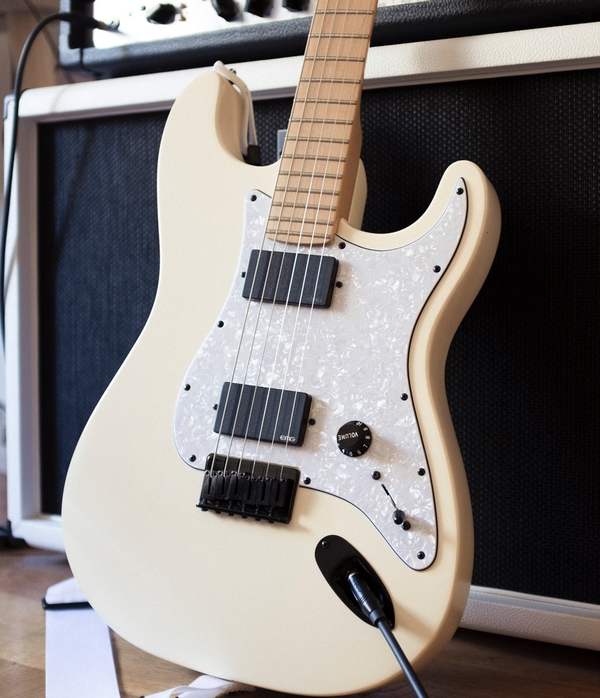 guitar with active pickups