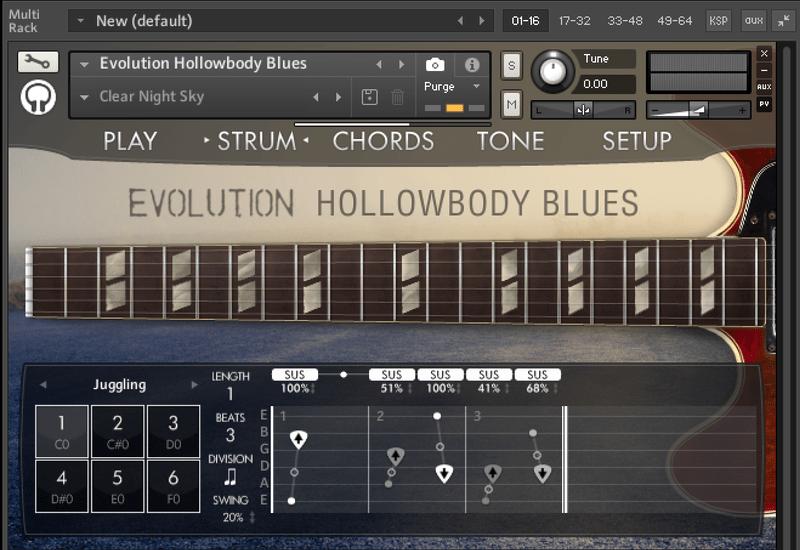 kontakt evolution hollowbody blues