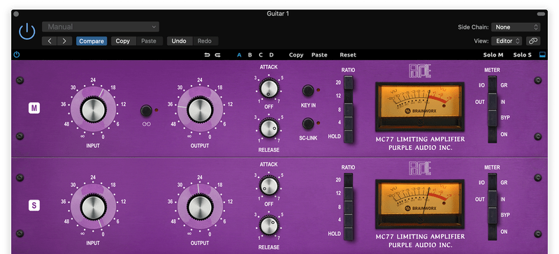 compressing the sides of drums