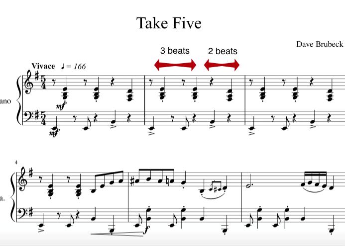 take five notation