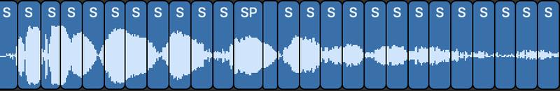 chopped audio grains