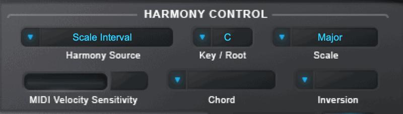 harmony engine harmony controls