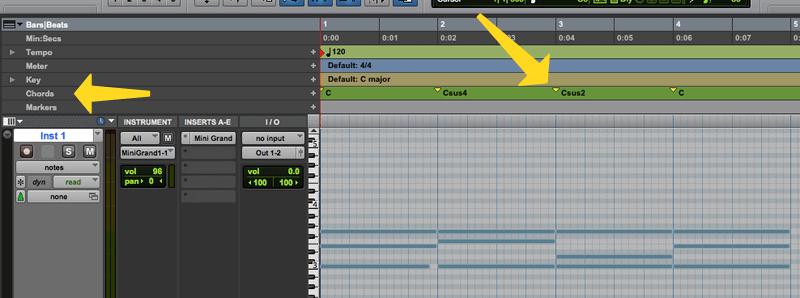 pro tools sus chords