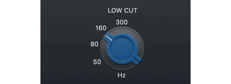 logic pro console eq low cut