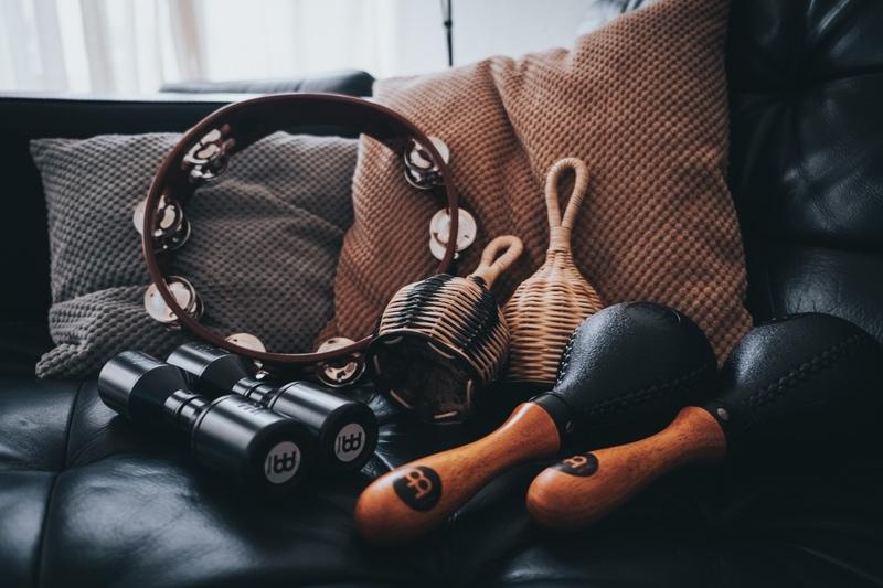 shakers and tambourine
