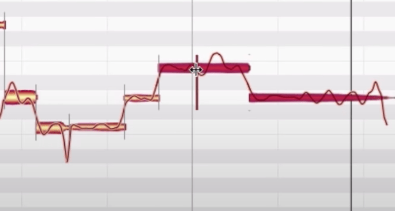 melodyne note split