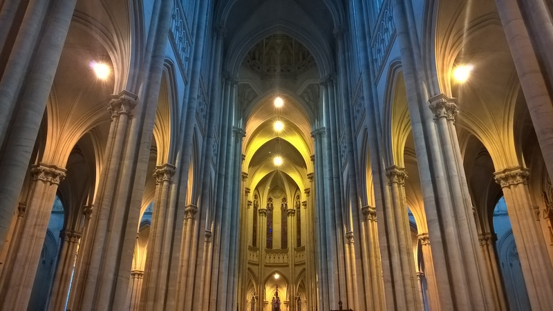 cathedral with lots of room reverb