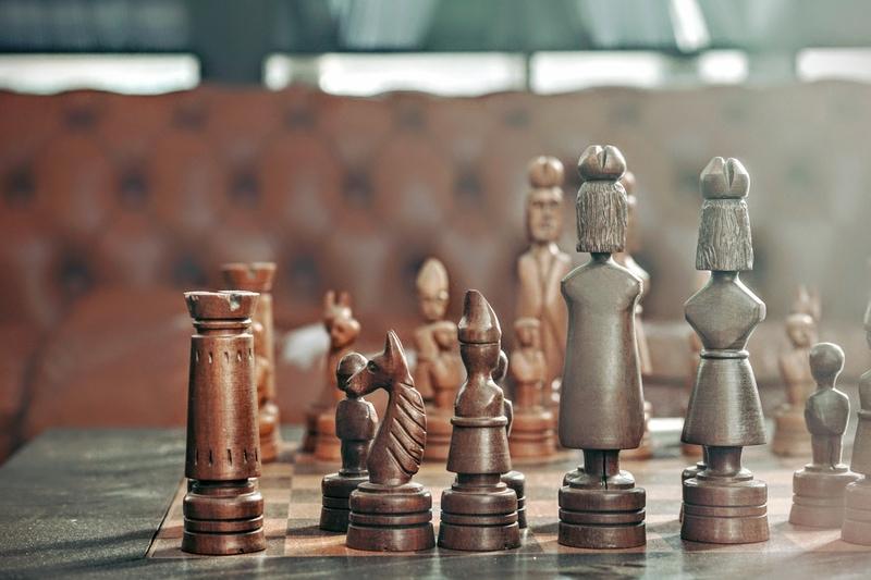 chess board to symbolize album release strategy